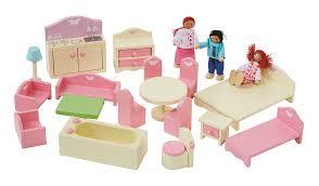 dolls furniture set. George Home Wooden Dolls House And Furniture Bundle Set T