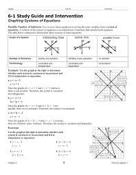 graphing systems of linear equations 3 1 study guide and intervention graphing linear equations ch 2 homework answers
