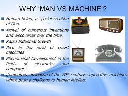 man vs machine consolidated
