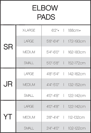 Ccm Hockey Equipment Sizing Chart Ccm Jetspeed Elbow Pad