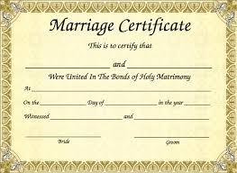 Wedding Certificate Template Impressive Marriage Certificate Template 48 48cashing