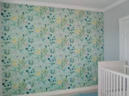 Baby Girl's Nursery Accent Wall ...