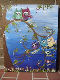 custom owl family tree painting by asliliesofthefield on