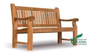 teak garden bench 3 seat extra