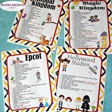 Free Printable Walt Disney World Ride Checklists Busy Moms