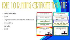Fun Run Certificate Template Fun Run Certificate Template Running Templates Winner Free