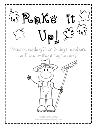 Classroom Freebies: Rake it Up: Addition With and Without Regrouping