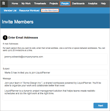 Inviting People Into Your Workspace Liquidplanner