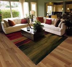 image of contemporary area rugs in living rooms
