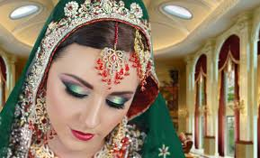 red and green traditional stani indian asian bridal makeup tutorial