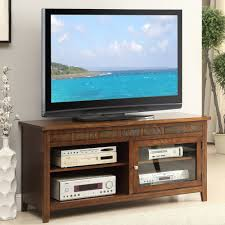 living spaces tv stand. Get Quotations · 1PerfectChoice Accent Living Room TV Stand Entertainment Console Open Shelves Glass Door Brown Spaces Tv