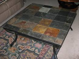 Iron And Stone Coffee Table Wrought Iron Coffee Table Slate Top Coffee Addicts