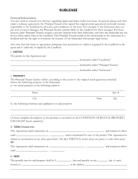 Sublet Agreement Template Template For Sublease Agreement 9