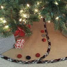 South House Boutique Burlap Christmas Tree Skirt