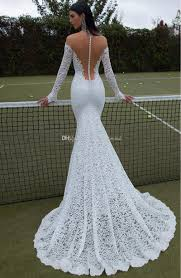 full lace long sleeve wedding dresses 2017 berta bridal illusion v