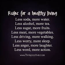 Healthy Living Quotes Impressive Positive Quotes Rules For A Healthy Living Hall Of Quotes