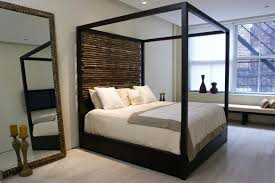 Bamboo Canopy Bed Custom Made Canopy Bed With Bamboo Headboard ...