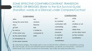 comparing and contrasting words some effective compare fcontrast  comparing and contrasting words photos comparing and contrasting words some effective compare 2fcontrast transition words bridges