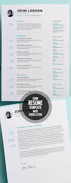 50 Best Resume Templates For 2018 | Design | Graphic Design Junction