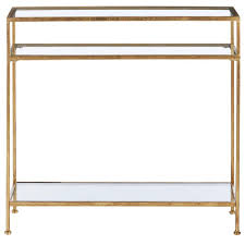 gold console table. Home Decorators Collection Bella Aged Gold Narrow Glass Console Table C