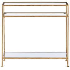 narrow console table. Home Decorators Collection Bella Aged Gold Narrow Glass Console Table E