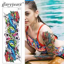 Glaryyears Velké Rameno Dočasné Tetování Nálepka Barevné Falešné