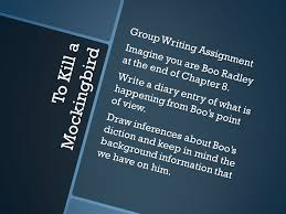 to kill a mockingbird discussion questions ppt video online group writing assignment imagine you are boo radley at the end of chapter 8 write