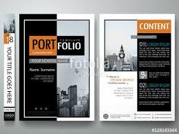 Company Portfolio Template Adorable Minimal Cover Book Portfolio Presentation LayoutBlack And White