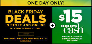 kohl s black friday deals one day 2017