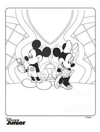 Kids N Funcom Coloring Page Mickey Mouse Clubhouse Minnie And Mickey