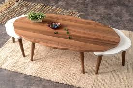 large size of corrigan studio everett 3 piece walnut coffee table set wayfair ikea with storage