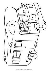 Camper Gratis Malvorlage In Lastwagen Transportmittel Ausmalen