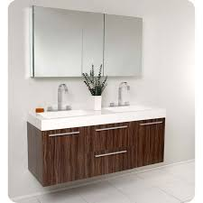 Bathroom Vanity Double Custom Fresca FVN48GW Opulento Walnut Modern Double Sink Bathroom Vanity