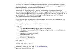 Summer Camp Counselor Cover Letter] Example Sponsor Letter Summer ...
