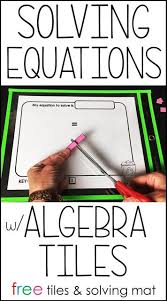 solving equations using algebra tiles