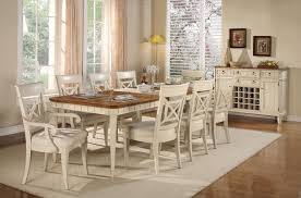 E  Outstanding Country Style Dining Room Sets 9 Piece Farmhouse Set  White