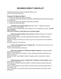 Mary Kay Business Plan Debut Checklist Mk It Example