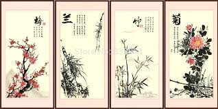 oil painting on canvas wall art calligraphy throughout for property chinese print