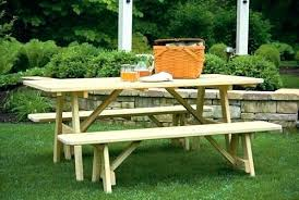round wood picnic table wood picnic table with detached benches 6 foot picnic table with detached
