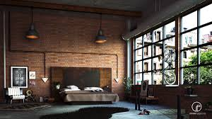 Industrial Wall Decor Brick Wall Living Room Spacious Sunken Living Room With Brick