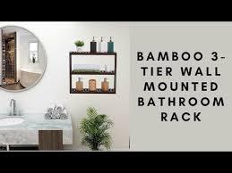 tier wall mounted bathroom rack