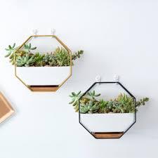 ceramic wall hanging octagon flowerpot