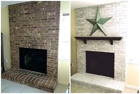 painted brick fireplace before and after pictures painting fireplace brick whitewash brick fireplace before and after