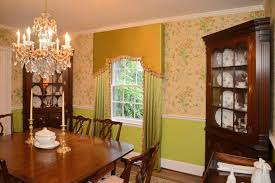 dining room window treatment patterns. these custom-made silk drapery panels, and matching cornice, help to enhance the beauty of this elegant dining room in winston salem. window treatment patterns