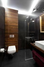Loft Beton Klinker Badezimmer Modern Dunkel Holz Akzente
