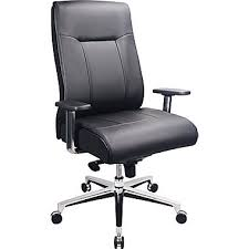 office leather chair. TempurPedic Leather Computer And Desk Office Chair Fixed Arms Black TP1001