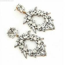 boho vintage wedding bridal earrings crystal chandelier statement drop large metal jewelry jewellery bohemian dangly long sparkly rhinestone
