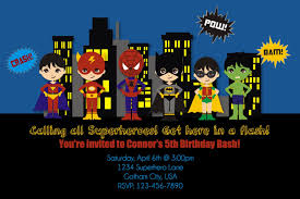 superheroes birthday party invitations superhero birthday invitations card free invitations ideas