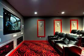 modern home theater room. ruby dottie joy carpet theater room modern-home-cinema modern home m
