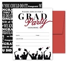 celebration invite 25 red black graduation party invitations with envelopes for college high school university grad celebration or announcement invite cards fill in